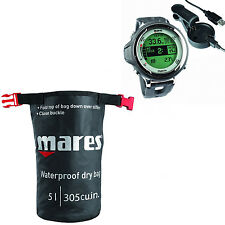 Mares Matrix Dive Computer Black + USB Interface + Mares Dry Sack 02UK