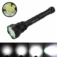 15000Lm Trustfire 12x CREE XML T6 LED Tactical Flashlight Torch 18650/26650 Lamp