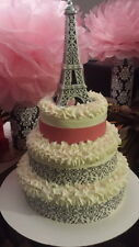 Eiffel Tower Wedding Cake Topper Paris French Souvenir Gift Party Birthday Craft