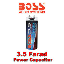 BOSS AUDIO 3.5 Farad Power Cap Capacitor Digital LED Voltage Display amps BLACK