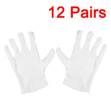 12 Pairs 100% Cotton General Purpose Moisturising Lining White Gloves Beauty New