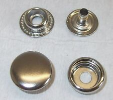10 Druckknöpfe 15mm silber Ringfeder mit Werkzeug für Zange und Hammer  ! NEU !