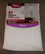 "84"" Better Homes and Gardens Arctic White Crushed Sheer Panel Curtain inch"