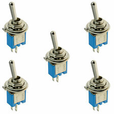 5 x On/Off Sub Miniature Small Mini Toggle Switch SPST