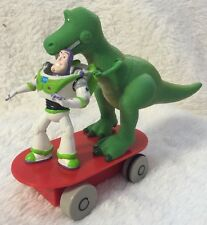 Disney Toy Story Buzz Lightyear & Rex On Skateboard PULLBACK ACTION  Cake topper