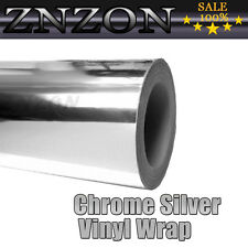 "4""x60"" Car Mirror Chrome Silver Sheet Tape Wrap Vinyl Sticker Film Bubble Free"