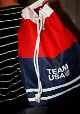 Team USA 2016 Olympic Games canvas backpack / shoulder bag NWT Rio De Janeiro