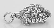 Small Turtle Sterling Silver Locket Box Pendant Tortoise #Papps9. Lot 20161610
