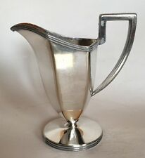 Vintage Silverplate Creamer With Markings Of A Lion And Crown.