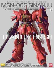 BANDAI MG 1/100 MSN-06S SINANJU Titanium Finish Plastic Model Kit Gundam UC