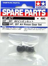 Tamiya 50477 24T & 25T AV Pinion Gear Part Set For TA01/TA02/FF03/TT01/CR01/XV01