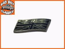 Union Jack Bandera Metal Esmalte Insignia Emblema Negro / Plata Coche Clásico