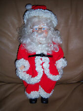 """VTG SWEET COLLECTIBLE BEAUTIFUL HAND CRAFT CROCHET  SANTA OUTFIT DOLL APROX 15"""""""