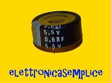 condensatore elettrolitico 0,68F 5,5v memoria tampone (B40)