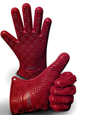 Heat Resistant Silicone Gloves For BBQ Oven Cooking Mitts Grill Barbecue Kitchen