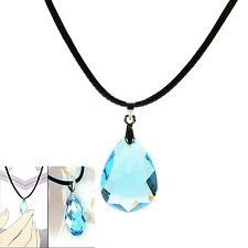 Cosplay Light blue Crystal Necklace for Sword Art Online SAO Kirito Asuna's Yu W
