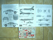 "DC-3/F-16/FORD T-BIRD/CHEVY CAPRICE ""VIRGINIA 96"" IPMS USA DECALS 1/72 1/48 1/24"