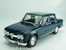 ALFA ROMEO GIULIA SUPER 1.6 MODEL CAR 1:43 SCALE BLUE 4 DOOR NOREV K8967Q