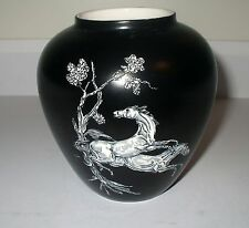 CROWN DEVON, FIELDING, MADE IN ENGLAND PEGASUS HORSE VASE -ART DECO CIRCA 1930's
