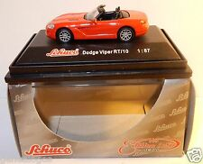 MICRO METAL DIE CAST SCHUCO HO 1/87 DODGE VIPER RT 10 CABRIOLET ROUGE IN BOX