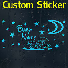 Baby Boy's Custom Decal Vinyl Sticker With Your Text Or Name For Wall Car Laptop