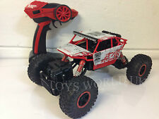 ROCK CRAWLER 2,4 GHz Radio Remote Control MONSTER TRUCK 4WD ruote motrici con ROSSO BOXED