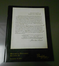 2012 Profiles In History HISTORICAL DOCUMENTS Catalog #52 Abraham Lincoln 100pgs