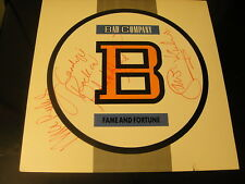 Bad Company Fame and Fortune SIGNED By 3 Vinyl LP Ralphs Kirke