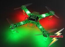 FPV250 V4 Quadcopter Green Ghost Edition LED Night Flyer FPV Drone Kit - UK