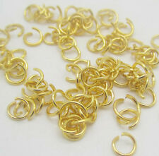 NEW 500pcs 4mm Gold Colors Plated Open Jump Rings Connectors Jewelry Finding B