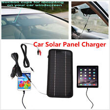 12V to 5V  Portable Solar Panel Power Battery Charger Backup For Car Boat Autos