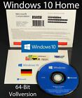 Microsoft Windows 10 Home Vollversion SB 64-Bit Hologramm-DVD Deutsch OVP NEU