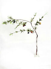 Artificial Olive Branch 117 cm Length - Fake Fruit Branches