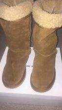 Dorothy perkins womens fur lined leather suede boots, size 6
