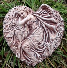 """angel in heart Poly Plastic concrete plaster mold mould 10"""" x 10"""""""