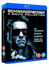 ARNOLD SCHWARZENEGGER MOVIE COLLECTION BLU-RAY 4 DISCS BOX SET REG B NEW&SEALED