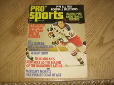 March 1974 Dell-Pro Sports Magazine-New York Rangers Brad Park
