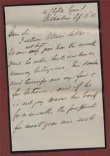 Letter. 'Mr. Allee' Clifton Court, Folkestone.  1889.     ga.154