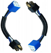"Ceramic H4 Headlight Wiring Harness Heat Resistant Plug Adapter Extension  7""  2"