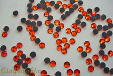 2 x 1440 Pcs  Iron On Hotfix Crystal Orange-Red Rhinestones SS16, Grade A, GA16N