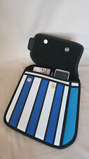New Ladies 3D Handbag From Cartoon Tablet Bag Look Smart Be Cool Blue Stripe