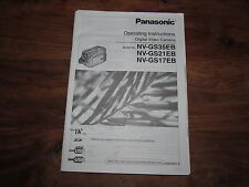 PANASONIC GS35 GS21 GS17  RARE ORIGINAL UK INSTRUCTION MANUAL BOOK INSTRUCTIONS
