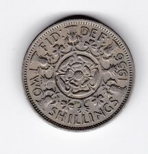 1956 Two Shillings Florin Coin Great Britain UK U-237