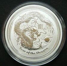 WOW !  2012 ~ PURE .999 SILVER 1/2~Z ~ YEAR of the DRAGON ~ PERTH  MINT ~ $19.88