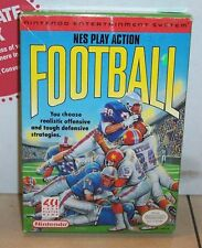 Vintage Nintendo PLAY ACTION FOOTBALL Video Game NES Complete CIB