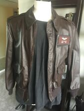 Cooper A-2 Brown Flight US Air Force Bomber Leather Goatskin Jacket Sz 36 Small