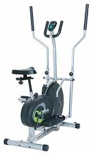 Elliptical Machine Dual Cardio Body Trainer Exercise Bike Workout Home Gym 2 in1