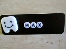 ID NAME TAG BADGE CUSTOM WHITE TOOTH PERSONALIZE DENTAL HYGIENIST DENTIST ORAL