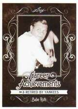 2016 Leaf Babe Ruth Collection Career Achievements #CA-09 #3 Retired by Yankees