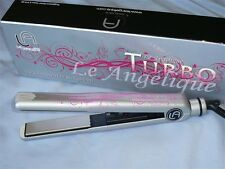 LE ANGELIQUE HAIR STRAIGHTENER FLAT IRON TURBO PINK SILVER